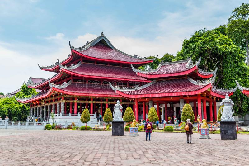 Tempel Semarang Java royalty-vrije stock fotografie