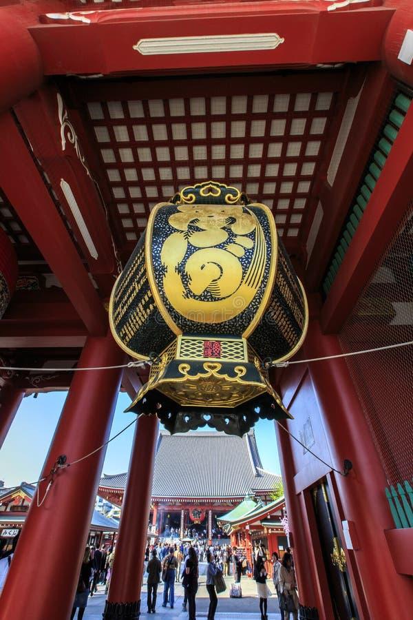 Tempel Senso-ji in Asakusa, Tokyo, Japan stockbilder