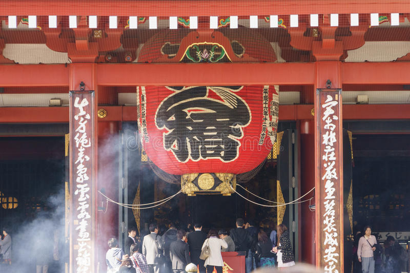 Tempel Senso-ji in Tokyo lizenzfreie stockbilder