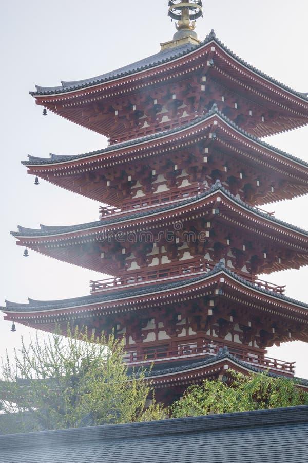 Tempel Senso-ji in Tokyo lizenzfreies stockfoto
