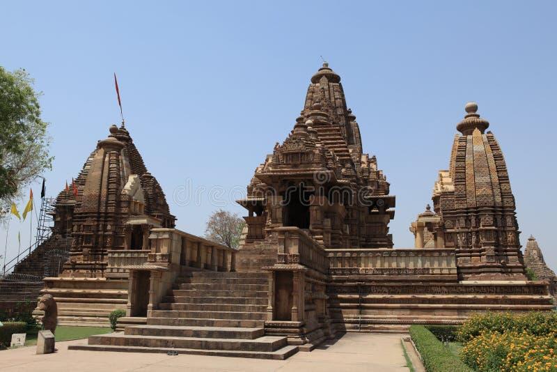 Tempel-Stadt von Khajuraho in Indien stockfotografie