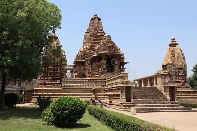 Tempel-Stadt von Khajuraho in Indien lizenzfreies stockfoto