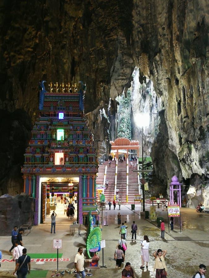 Tempel Subramanian Thaipusam Malaysias Kuala Lumpur Batu Cave Peacock stockbilder