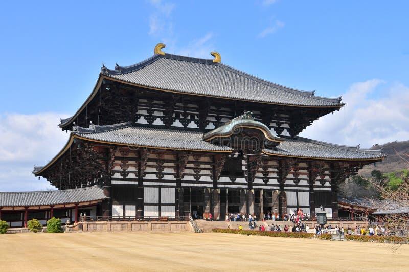 Tempel Todai -todai-ji in Nara, Japan. royalty-vrije stock afbeeldingen