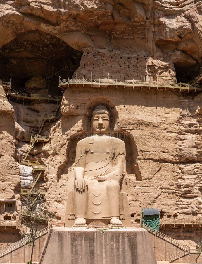 Tempel und Grotten Bingling bei Yongjing, Gansu, China stockfotografie