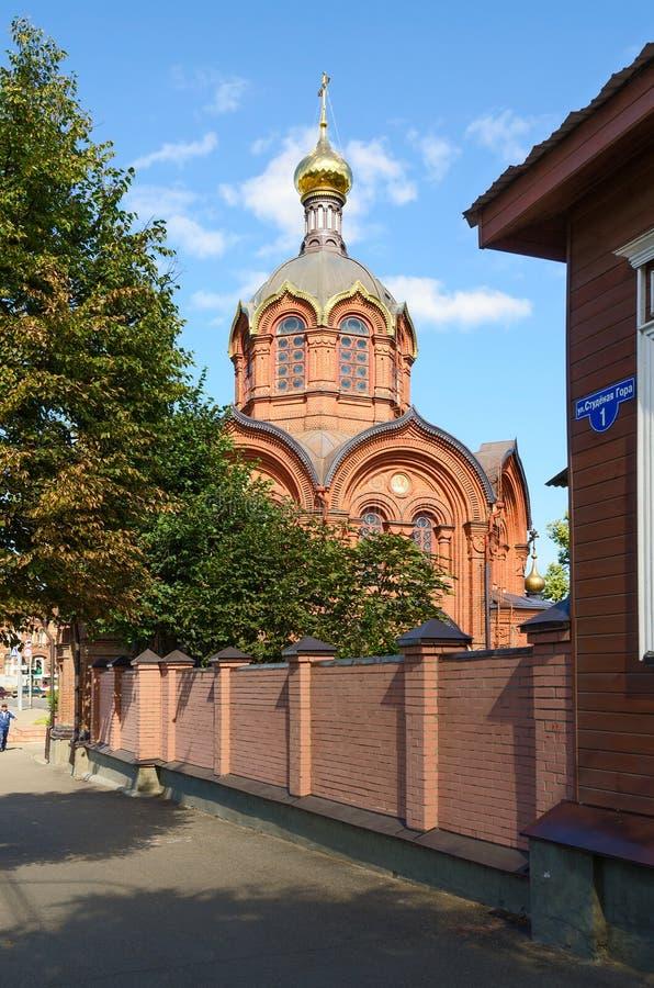 Tempel van Aartsengel Michael, Vladimir, Rusland stock foto