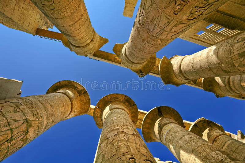 Tempel van Amun in Karnak stock foto