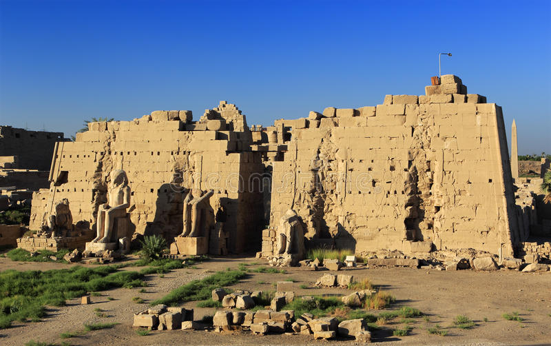 Tempel van Amun in Karnak royalty-vrije stock afbeelding