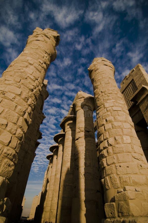 Tempel van Amun, Karnak Tempel, Egypte. royalty-vrije stock foto