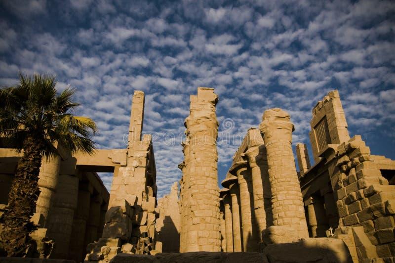 Tempel van Amun, Karnak Tempel, Egypte. stock foto