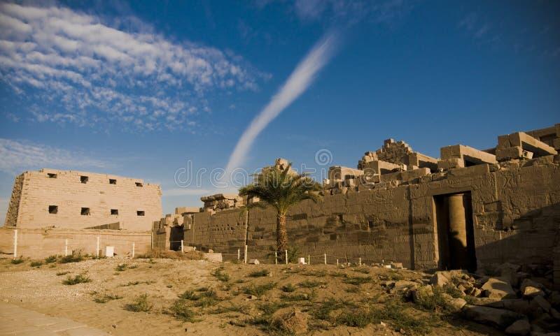 Tempel van Amun, Karnak Tempel, Egypte. royalty-vrije stock afbeelding
