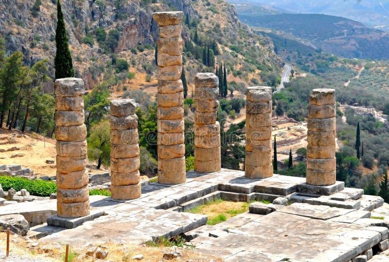Tempel van Apollo stock fotografie
