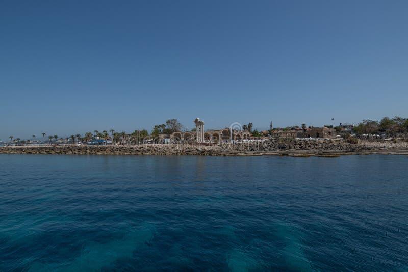 Tempel van Apollo in Zij, zuidelijke Mediterrane kust van Turkije stock afbeelding