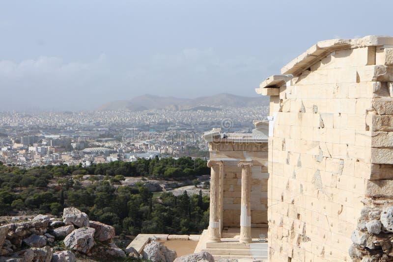 Tempel van Athena Nike, Akropolis, Athene stock afbeelding