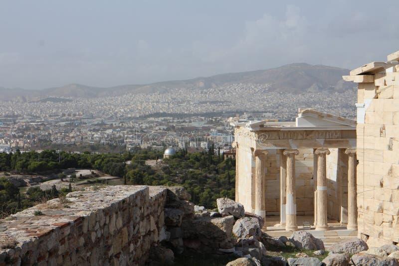 Tempel van Athena Nike, Akropolis, Athene royalty-vrije stock afbeelding