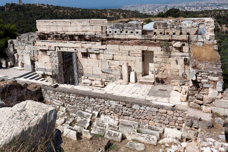 Tempel van Athena Nike Athene Griekenland royalty-vrije stock foto