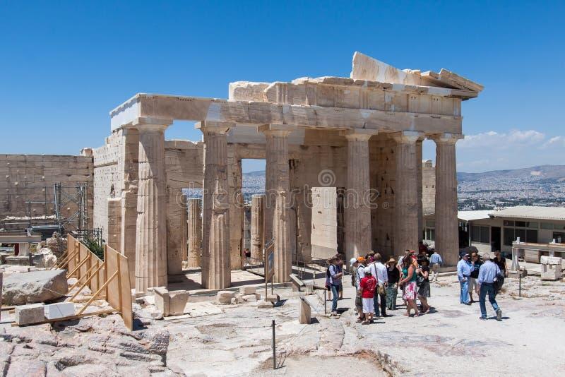 Tempel van Athena Nike Athene Griekenland stock foto