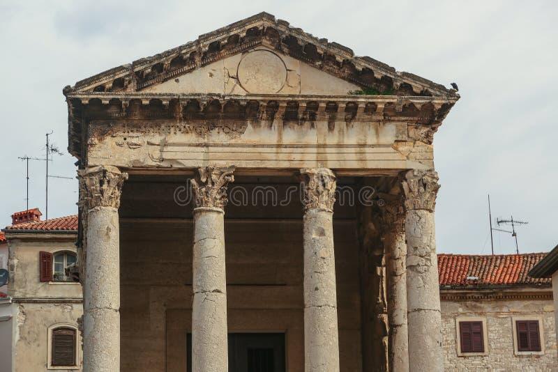 Tempel van Augustus in Pula royalty-vrije stock foto