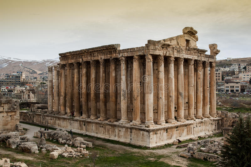 Tempel van Bacchus, Baalbek royalty-vrije stock fotografie
