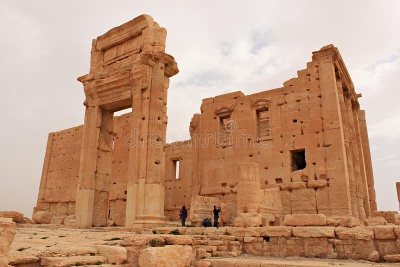 Tempel van Bels Ruïnes van de oude stad van Palmyra kort voor de oorlog, 2011 stock foto's