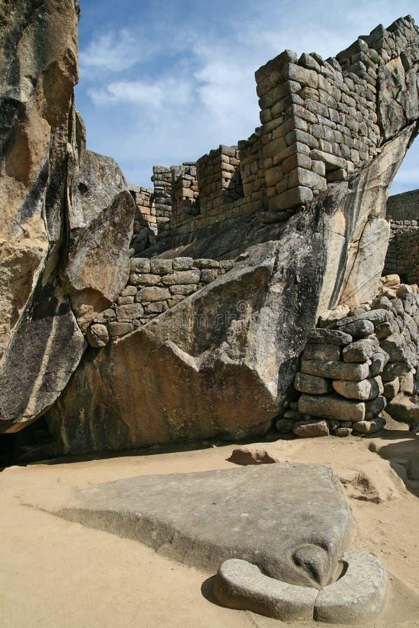 Tempel van Condor in Machu Picchu, Peru royalty-vrije stock afbeeldingen
