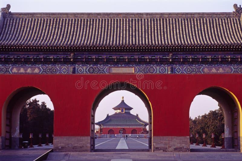Tempel van de hemel royalty-vrije stock afbeelding