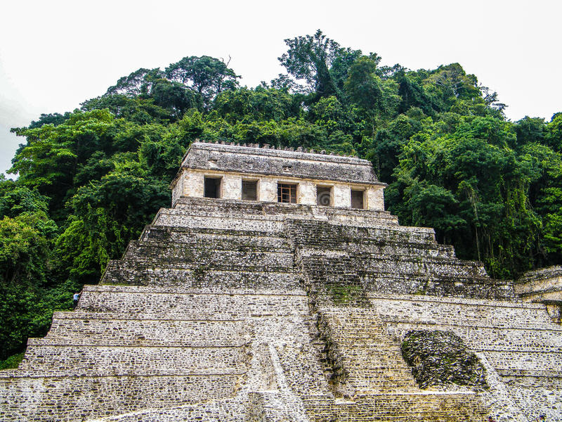 Tempel van de Inschrijvingen - Palenque - Chiapas royalty-vrije stock foto's