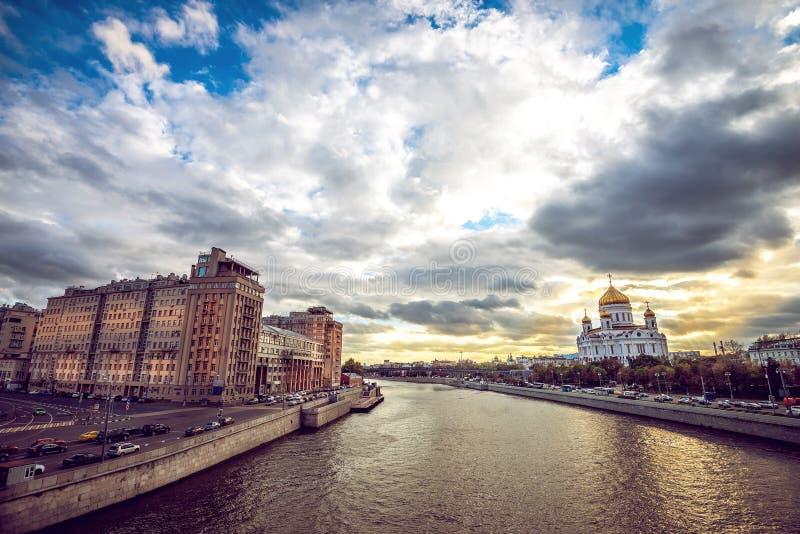 Tempel van de Verlosser van Christus in Moskou stock afbeeldingen