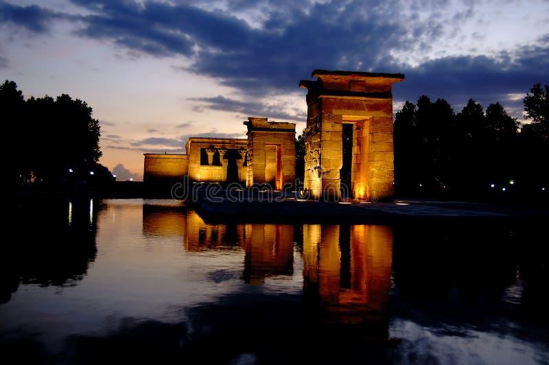 Tempel van Debod in Madrid bij n royalty-vrije stock afbeeldingen