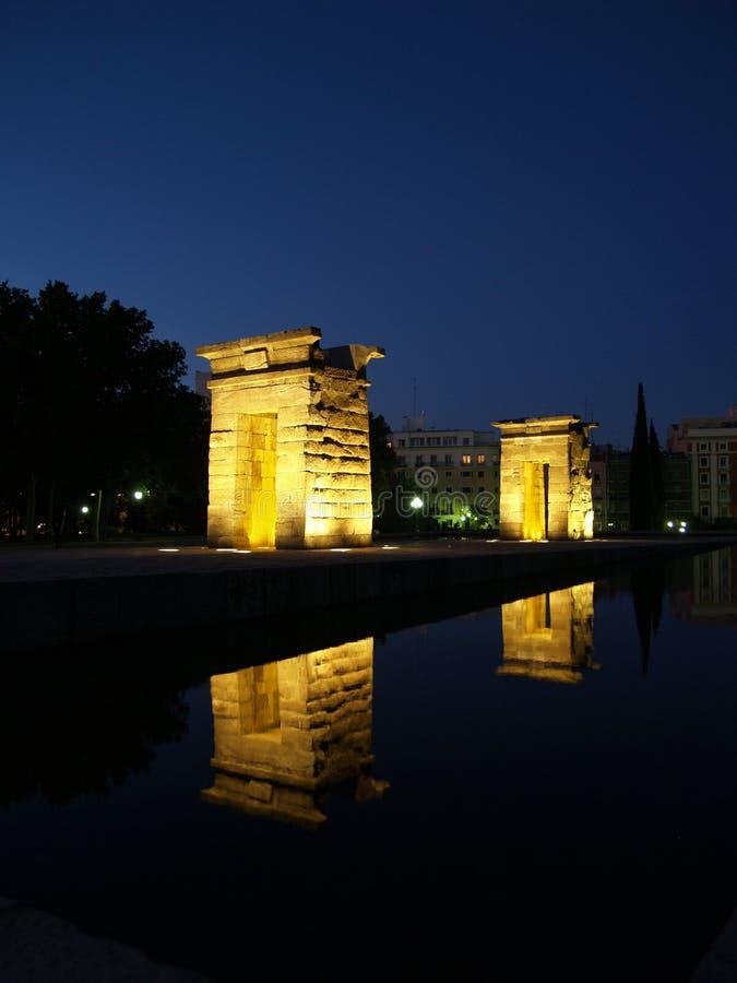 Tempel van Debod in Spanje stock afbeelding