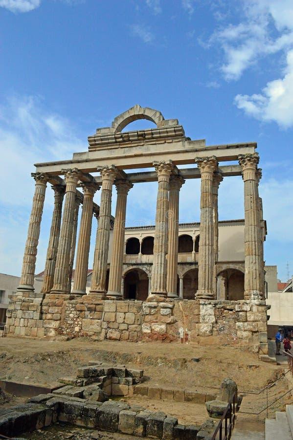 Tempel van Diana, Merida Spain royalty-vrije stock afbeeldingen