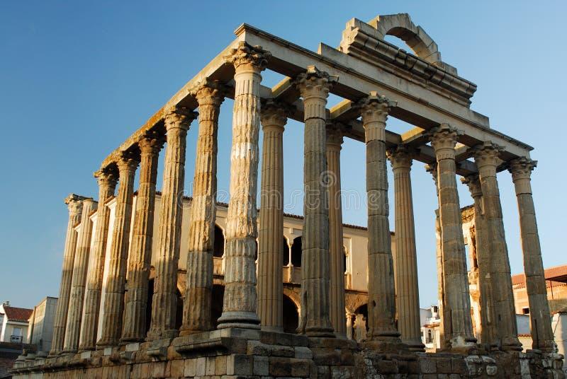 Tempel van Diana in Merida, Spanje stock afbeelding