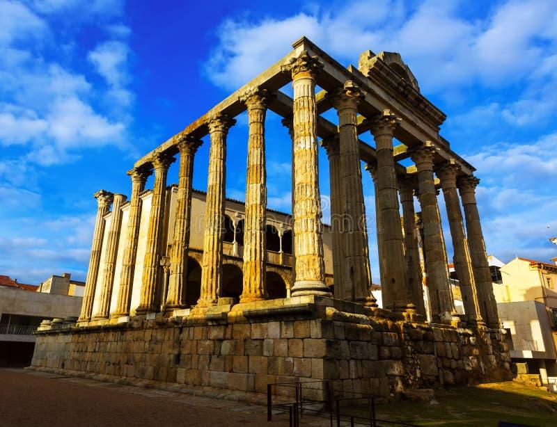 Tempel van Diana Merida, Spanje stock fotografie