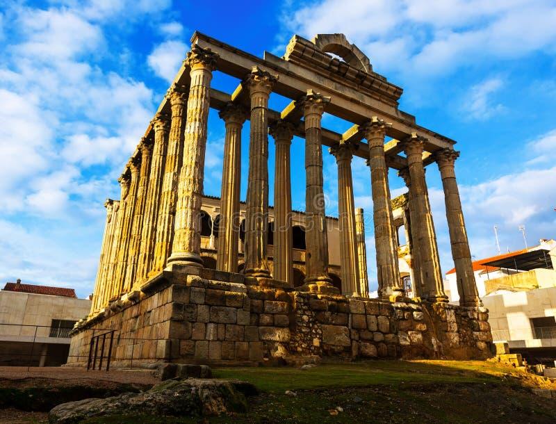 Tempel van Diana Merida, Spanje stock afbeeldingen