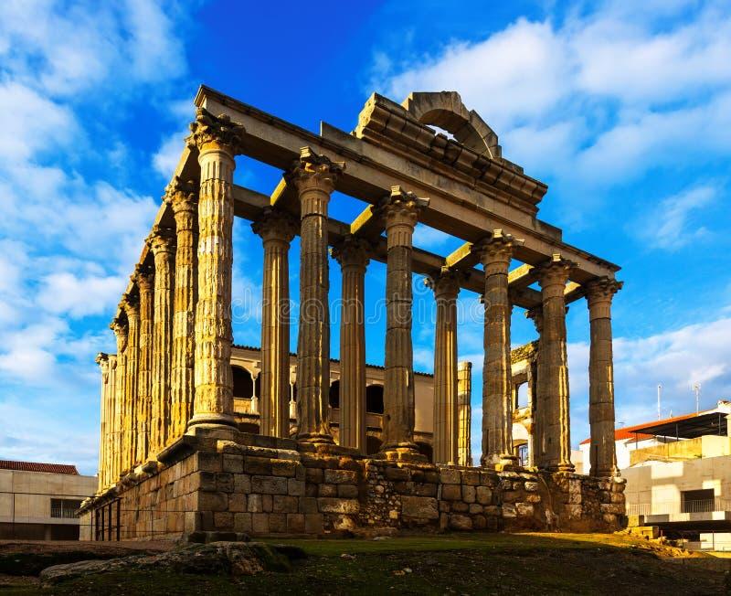 Tempel van Diana Merida, Spanje royalty-vrije stock foto