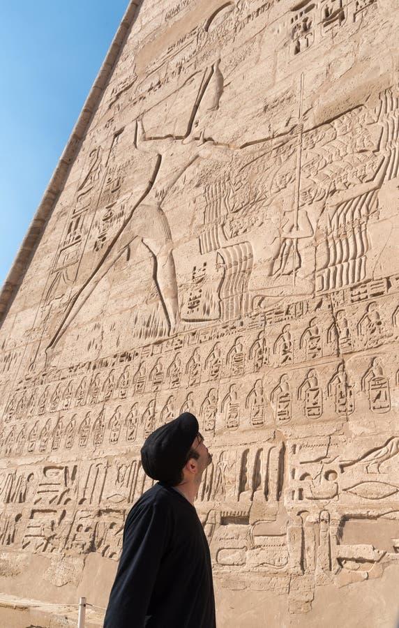 Tempel van Edfu, Egypte royalty-vrije stock foto