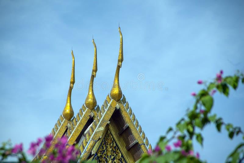 Tempel van Emerald Buddha, Groot Paleis, Bangkok, Thailand stock fotografie