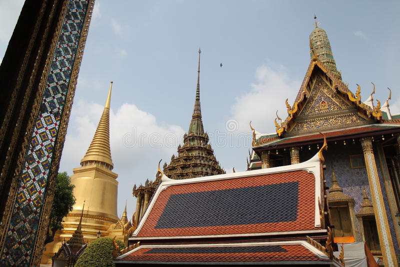 Tempel van Emerald Buddha, Wat Phra Kaew royalty-vrije stock foto