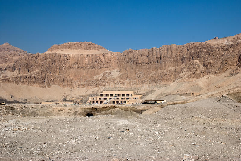 Tempel van Hatshepsut, Egypte stock fotografie