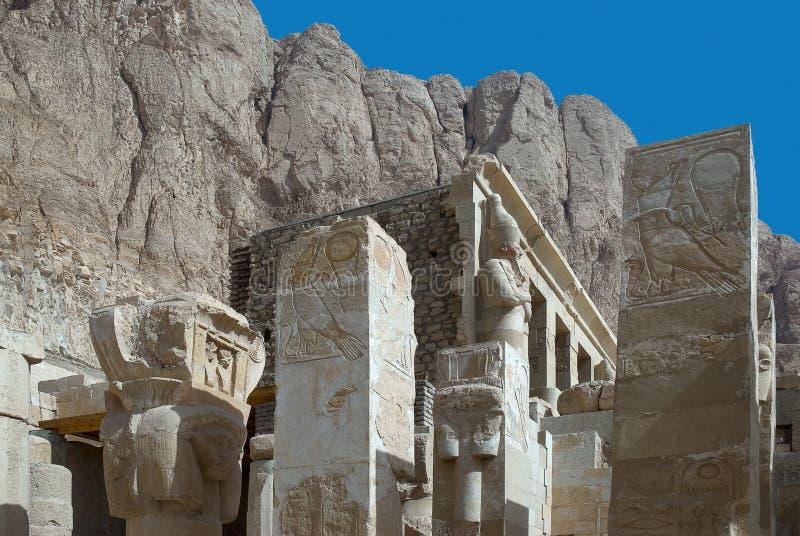 Tempel van Hatshepsut, Egypte stock afbeeldingen