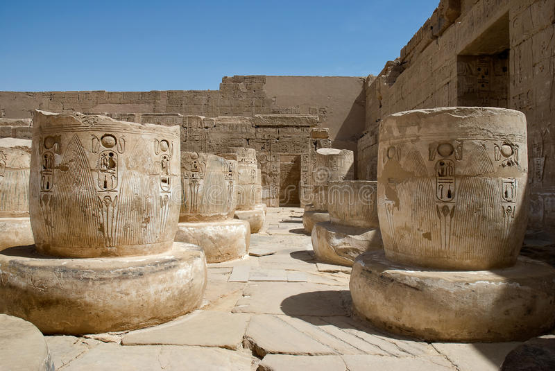 Tempel van Hatshepsut, Egypte stock foto's