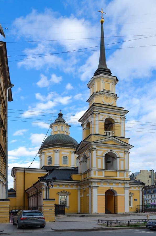 Tempel van heilige rechtschapen Simeon de god-Drager en Anna de Kerk van Profetensimeonovskaya, St. Petersburg, Rusland stock fotografie