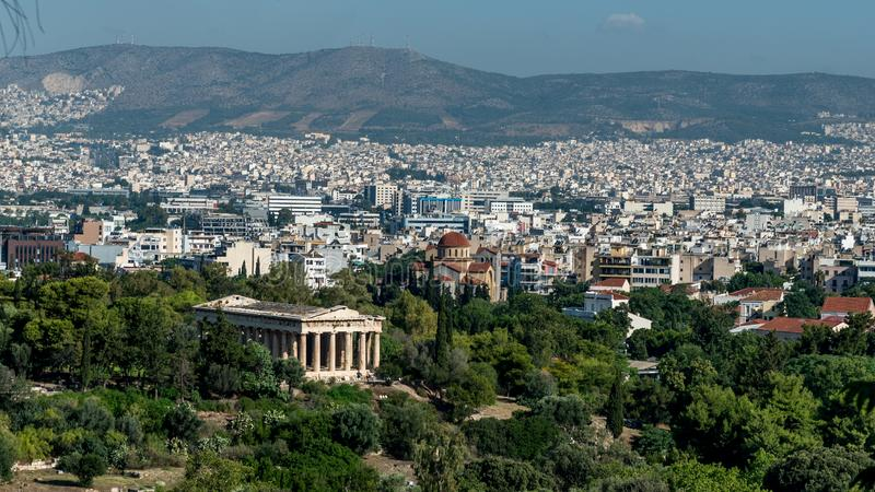 Tempel van Hephaestus in Agora van Athene royalty-vrije stock afbeeldingen