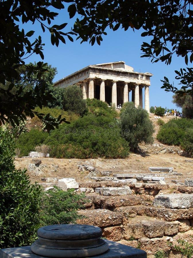 Tempel van Hephaestus, Athene stock foto's