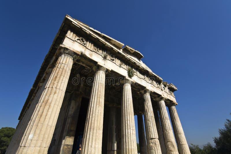 Tempel van Hephaestus in Athene, Griekenland royalty-vrije stock afbeeldingen