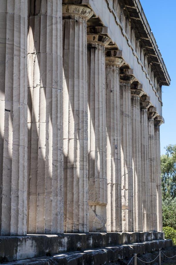 Tempel van Hephaestus in Oud Agora, Athene, Griekenland stock afbeeldingen