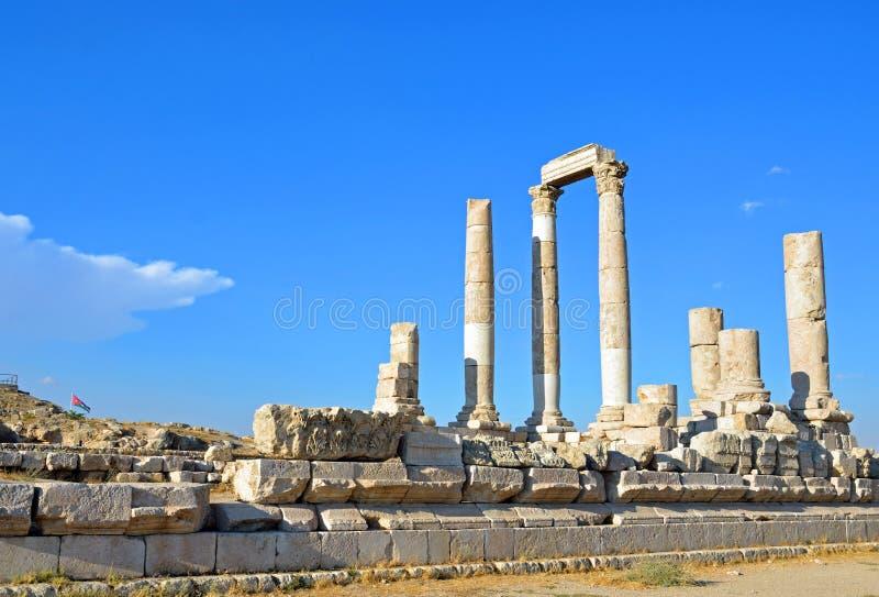 Tempel van Hercules stock afbeelding