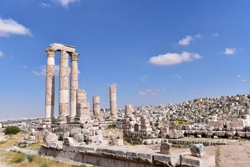 Tempel van Hercules royalty-vrije stock afbeelding