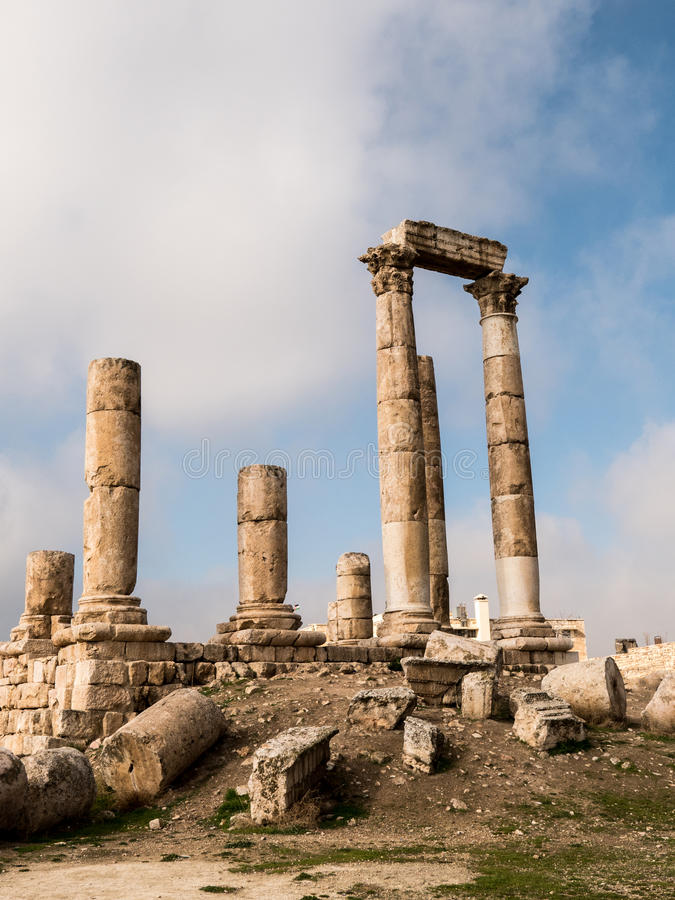Tempel van Hercules royalty-vrije stock foto's