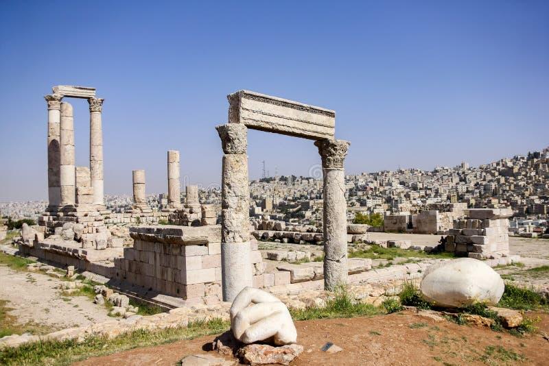 Tempel van Hercules, Amman, Jordanië royalty-vrije stock fotografie